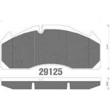 Колодки дисковые 29125  249.5x111.7x29.00 Volvo FL/FH/FM с пруж