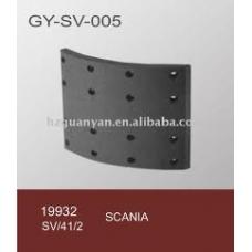 Накладки тормозные 19932 413x203 STD 19.0 (6.35x19.5 64) 1 накладка на колодке Scania 93/113/143/94/114