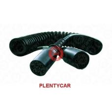 Кабель электрический 7-полюсный, Type N, Lmax=4500, с 2пласт.штекерами 24V ISO1185 DIN72579\