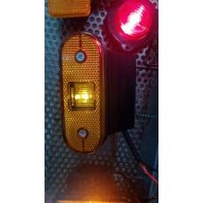 Фонарь габаритный LED с кроншт. с провод. ЖЕЛТЫЙ Schmitz
