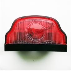 Фонарь освещения номерного знака ЧЕРНАЯ трапецевидный под лампочку MAN Scania