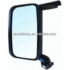 Зеркало большое левое в сборе с электро приводом и подогревом одинарное короткий кронштейн Scania 4R (08.04-)