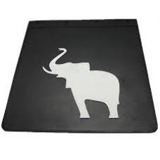Брызговик резино-пластик 2шт 400х400 с логотипом  Слоник schmitz