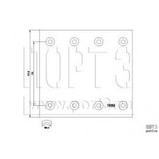 Накладки тормозные 19283 420x178 2-рем 8отверстий закл-93251 8x15 SAF