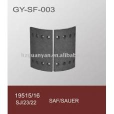 Накладки тормозные 19515 300x200 STD 8отверстий закл-93252 8x18  Kass.SAF (SN 300.200)