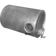 Резонатор(бочка) глушителя ЕВРО 1 круглая Volvo FH12/16 FL12 FM7/10/12