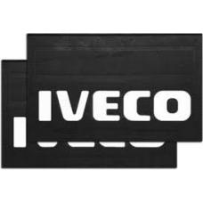 Брызговик резино-пластик 2шт 590x360 с логотипом задний IVECO