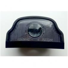 Фонарь освещения номерного знака трапецевидный  черный под лампочку MAN Scania