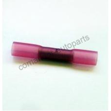 Контакт гильза красная 05-1.5мм для соединения проводов ТЕРМОУСАЖИВАЕМАЯ 4.8мм DYBT-1
