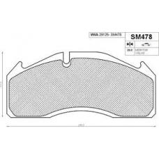 Колодки дисковые 29125  249.5x111.7x29.00 Volvo FL/FH/FM mb actros