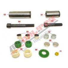 Рк диcкового тормоза направляющие втулки болты и пыльники SAF WABCO PAN22