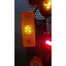Фонарь габаритный LED EURO с кроншт. с провод. ЖЕЛТЫЙ Schmitz 110x40
