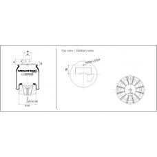 Пневмоподушка подвески SP557023KP01