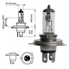 Лампа Н4 автомобильная галогенная с усами  12V 75/70W
