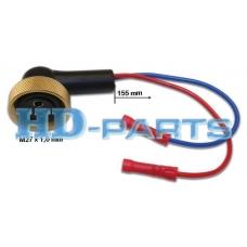 Кабель раъем адаптер для кранов круглая фишка 2 контакта M27  (L=155mm) на сайленоид
