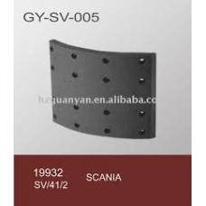 Накладки тормозные 19932 413x203 2-рем 21.0  (6.35x19.5 64) 1 накладка на колодке Scania 93/113/143/124
