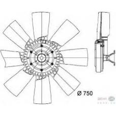 Вискомуфта привода вентилятора Scania 113/143/144