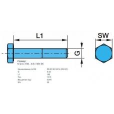 Болт М16 L160мм с телом