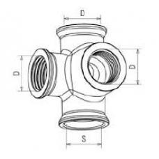 Соединитель Х образный P5 f16f16f16 C37