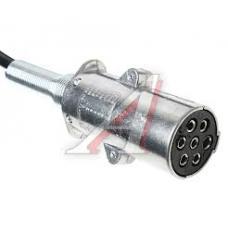 Кабель электрический 7 полюсов основной (метал вилка) спиральный Lmax=5500 мама