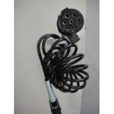 Кабель электрический 7 полюсов основной (пласт вилка) спиральный Lmax=3500 мама