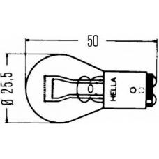 Лампа накаливания задние габариты и стоп-сигнал двухконтактная 24V (P21/5W) MAN MB, VOLVO