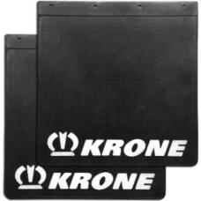 Брызговик резино-пластик 2шт 400х400 с логотипом  KRONE