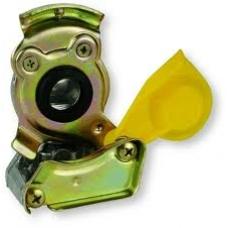 Соединительная головка ЖЕЛТАЯ M16x1.5 с клапаном на тягач