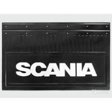Брызговик резино-пластик 2шт 590x360 с логотипом задний Scania