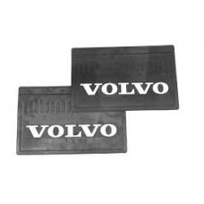 Брызговик резино-пластик зад 2шт 590x360 с логотипом  VOLVO
