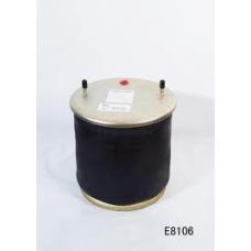 Пневмопод 4881NP02 со стак  пласт  h320 2шп.M12смещ.25. 1штуц.M22. Нстакана 135. 8отв.M16 \BPW
