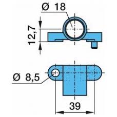 Кронштейн датчика ABS L=39 d=18 d=8.5 BPW ECO Plus 6.5-9t
