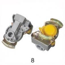 Соединительная головка ЖЕЛТАЯ M16x1.5 без клапана на прицеп