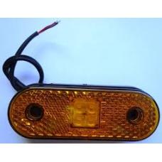 Фонарь габаритный желтый 120*45*70 светодиод