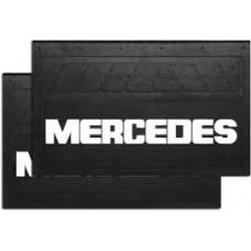 Брызговик резино-пластик 2шт 590x360 с логотипом  MB Mersedes