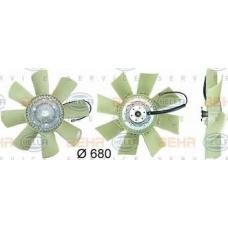 Вискомуфта привода вентилят электр с крыльчаткой d=680mm 8 лопастей \RVI Kerax/Premium